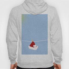 santa hat on clothesline Hoody