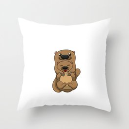 My Significant Otter Shirt Lovely Valentine Partnerlook Tee Throw Pillow