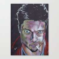 tyler durden Canvas Prints featuring Tyler Durden by Danny Allain