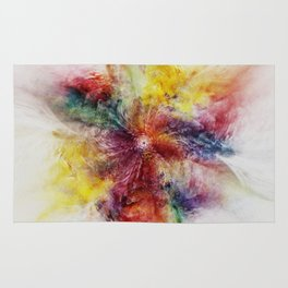 Colorful Flower abstract 2016 Rug