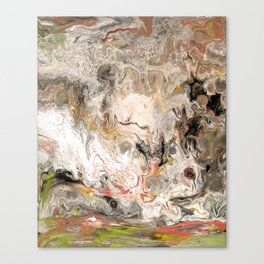 Earth Strata Marble Canvas Print