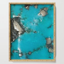 Turquoise & Gold Serving Tray