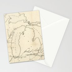 Railroad & The Northwestern States in 1850 Stationery Cards
