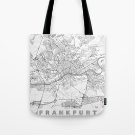 Frankfurt Map Line Tote Bag