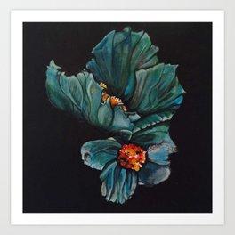 Remembrance - Blue Poppy Himalayan Flower Art Print
