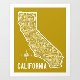 California Map Art Print