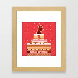 One year groovy birthday cake Framed Art Print