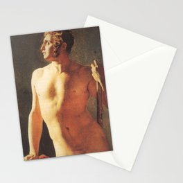 A Male Torso by Jean-Auguste-Dominique Ingres Stationery Cards