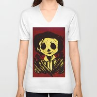 edward scissorhands V-neck T-shirts featuring Edward Scissorhands by Jide