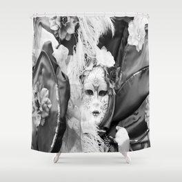 Venetian carnival mask D - Lady Nature Shower Curtain