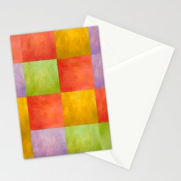 Colored Tiles Stationery Cards