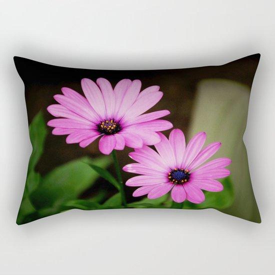 Pink Wild Flowers Rectangular Pillow