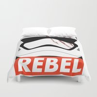 rebel Duvet Covers featuring REBEL by Bertoni Lee
