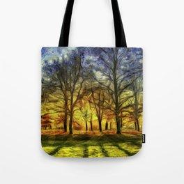 Greenwich Park London Sunset Art Tote Bag