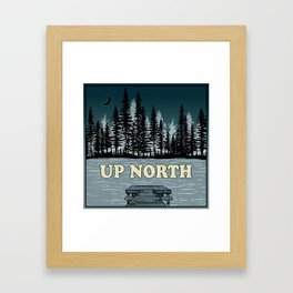 Up North at Night Framed Art Print