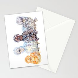 Silkie Chicken Huddle Stationery Cards