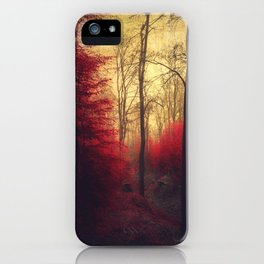 Ruby Red Forest iPhone Case