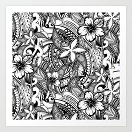 Hawaiian Polynesian Trbal Tatoo Print Art Print