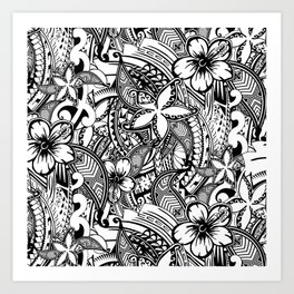 Hawaiian Polynesian Trbal Tatoo Print Art Print