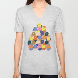 Colored Baby Chickens pattern Unisex V-Neck