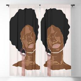 Black beauty girl, Melanin queen, African American women, dark skin girl, afro female Blackout Curtain