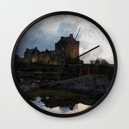 Eilean Donan Castle Kyle of Lochalsh Vintage Border Wall Clock