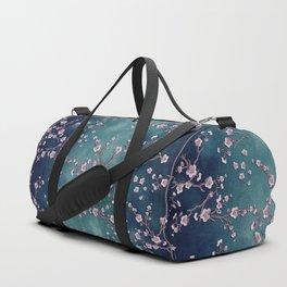 SAKURA LOVE  GRUNGE TEAL Duffle Bag