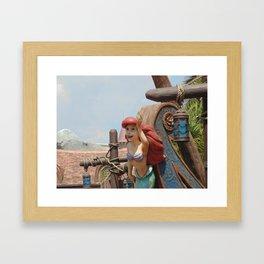 Ariel at Disney's Fantasyland in the Magic Kingdom Framed Art Print