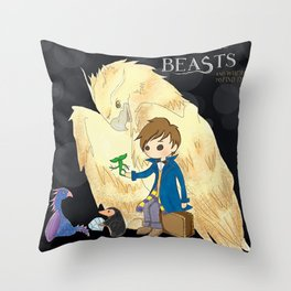 Fantastic beasts and where to find them. Throw Pillow