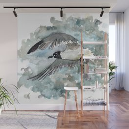 Seagull in Stormy Weather Wall Mural