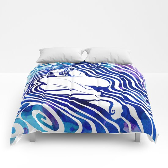 Water Nymph VII Comforters