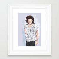 coconutwishes Framed Art Prints featuring Harry 1D tattoos T-shirt by Coconut Wishes