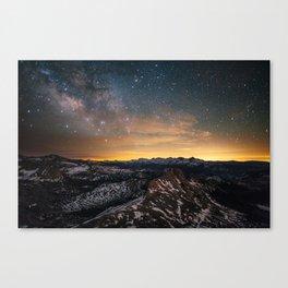 Matthes Crest Milky Way Canvas Print