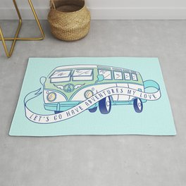 Let's Go Have Adventures My Love Rug