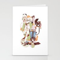 carnage Stationery Cards featuring carnage by catherine