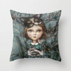 Cecile *Cattitude* Throw Pillow