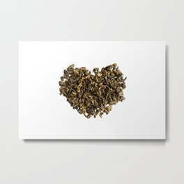 Dried and curled leaves of Oolong Metal Print