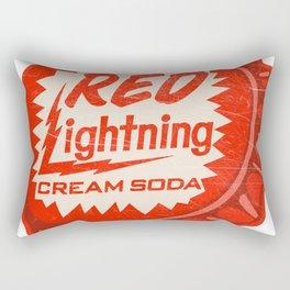 Vintage Red Lightning Cream Soda Bottle Cap Rectangular Pillow