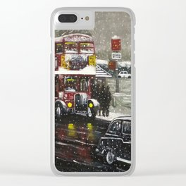 The Bus Stop Clear iPhone Case