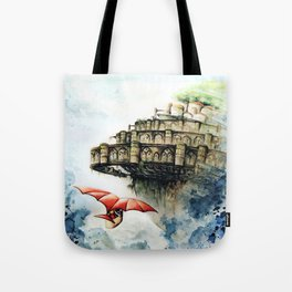 """""""The castle in the sky"""" Tote Bag"""