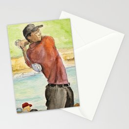 Tiger Woods_Professional golfer Stationery Cards