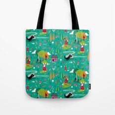 Little Red Riding Rabbit Tote Bag