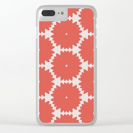 Red Stars of Christmas Pattern Geometric Abstract Clear iPhone Case