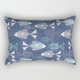 Here, Fishy Fishy Rectangular Pillow