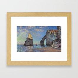Claude Monet's The Cliffs at Etretat Framed Art Print