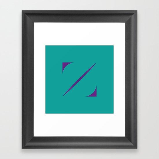 Z like Z Framed Art Print