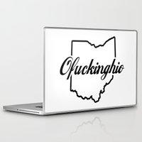 plain Laptop & iPad Skins featuring Ofuckinghio (plain) by MattXM85