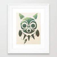 mononoke Framed Art Prints featuring Mononoke by Kiana