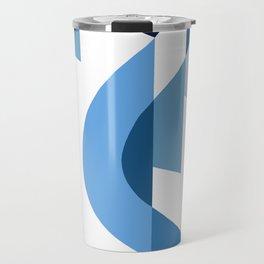 SUISSE - Art Deco Modern: BLUE MONDAY Travel Mug