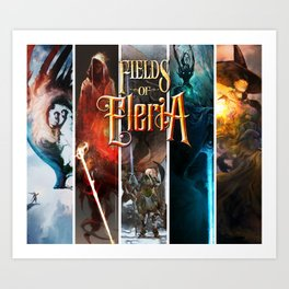 Fields of Eleria : Five Paths Art Print